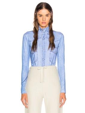 Shirt Print Long Sleeve Bodysuit