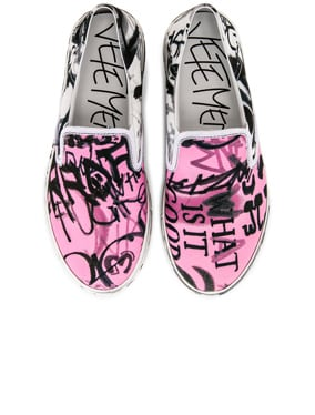 Graffiti Slip On Sneakers