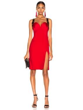 Crossback Bustier Midi Dress