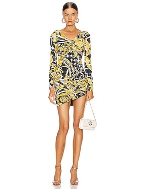 Print Mini Bodycon Cocktail Dress