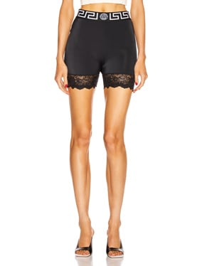 Lace Trim Biker Short