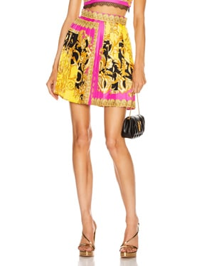 Baroque Pleated Mini Skirt