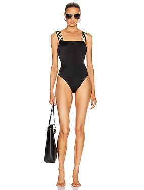 Simple One Piece Swimsuit