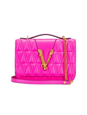 Quilted Leather Tribute Crossbody Bag