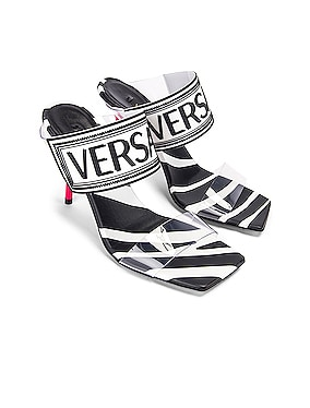 Logo Clear Heel Sandals