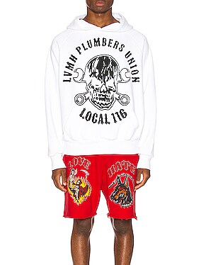 Oversized Bomber Patch Hoodie