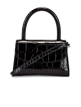 Mini Croco Embossed Leather Bag