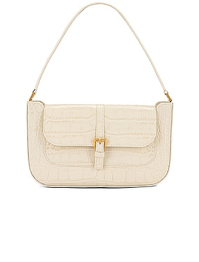 Miranda Croco Embossed Leather Shoulder Bag