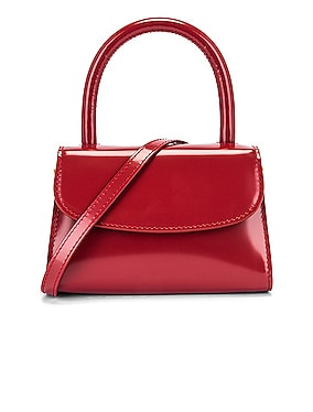 Mini Semi Patent Leather Top Handle Bag