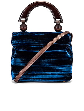 Mini Fiona Crushed Velvet Top Handle Bag