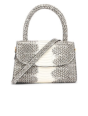Mini Snake Print Leather Bag
