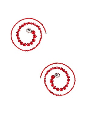 Spiral Bead Earrings