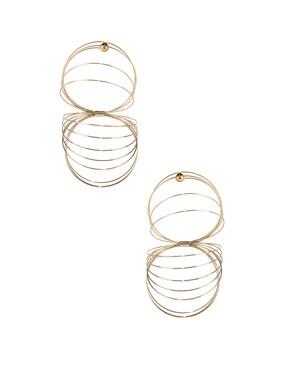 Gold Slinky Earrings