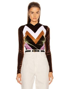 Graphic Velvet Bodysuit