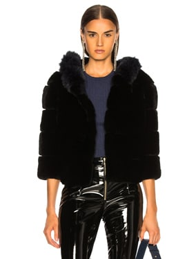 Hooded Fur Jacket