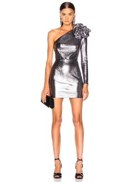 for FWRD One Shoulder Leather Dress