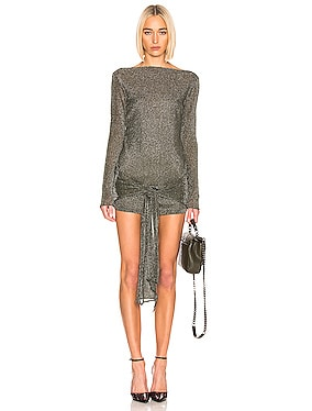 Mini Wrap Knit Dress