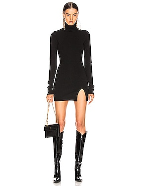 Mini Slit Knit Dress