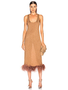 Midi Feather Knit Dress