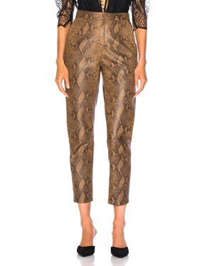for FWRD High Waist Skin Print Leather Pants