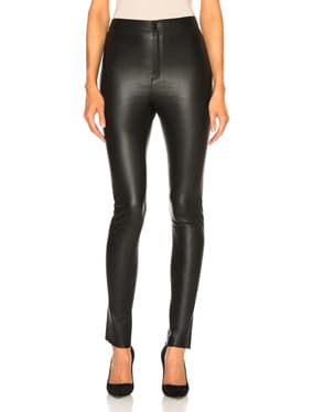 High Waisted Skinny Leather Pants