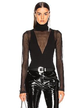 Semitransparent Knit Bodysuit