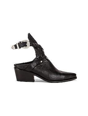 Leather Cowboy Sobo Ankle Boots