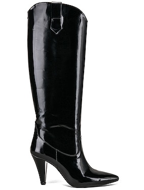Patent Leather Knee High Boots