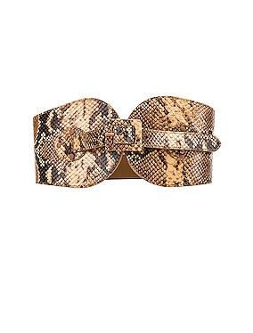 Covered Buckle Waist Belt