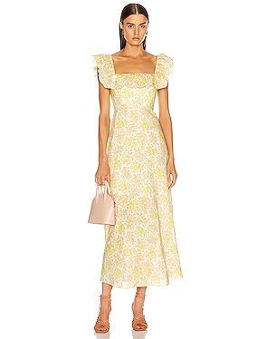 Goldie Ruffle Long Dress