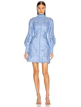Super Eight Embroidered Mini Dress