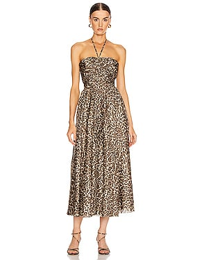 Suraya Ruched Leopard Dress