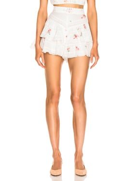 Heathers Pintuck Frill Short