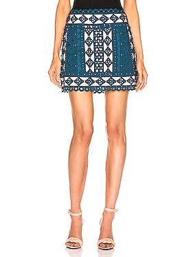 Moncur Studded Mini Skirt
