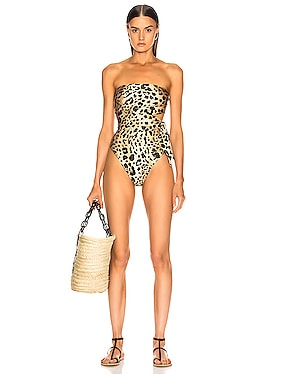 Veneto Scarf Cut Out Swimsuit
