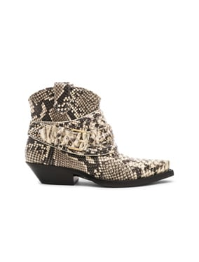 Snakeskin Embossed Cowboy Boots