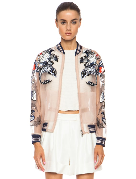 Lyst - 3.1 Phillip Lim Tattoo Embroidery Organza Jacket in