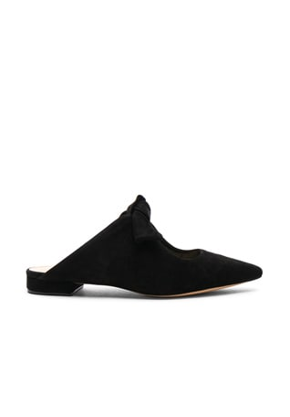 Suede Evelyn Flats