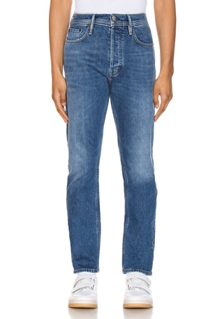River Mid Blue 5 Pocket Denim Jeans