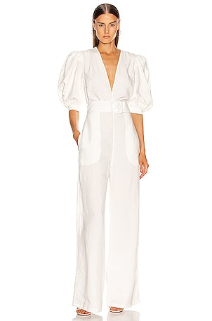 Solid Jumpsuit With Belt