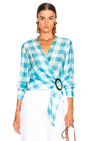 Vichy Cross Front Shirt With Hoop