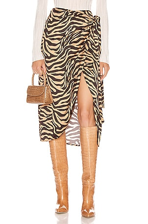 Camilla Wrap Midi Skirt