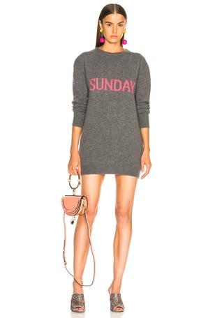 Sunday Crewneck Sweater Dress