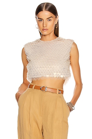 Sequin Sleeveless Top