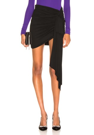 Stretch Jersey Ruched Mini Skirt