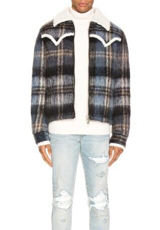 Plaid Short Trench Coat