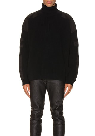 Military Patch Turtle Neck