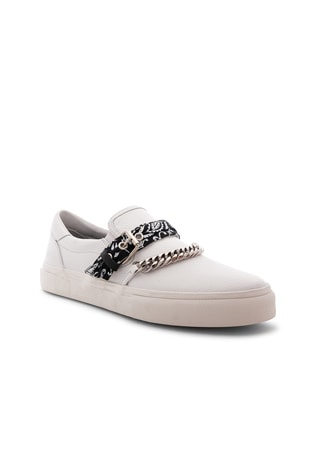 Slip On Bandana Leather Sneaker