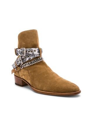 White Bandana Buckle Boot