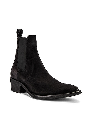 Crepe Pointy Toe Chelsea Boot